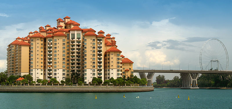 Condos and the Singapore Flyer by the Kallang River.jpg