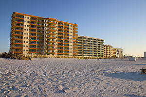 Condos along the beach in Orange Beach Alabama