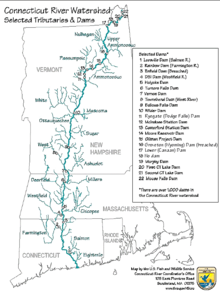 Mapa do rio Connecticut