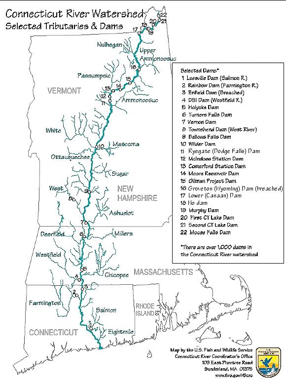 Connecticut River Map