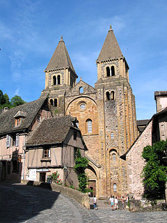 abbatial church located in Aveyron, in France