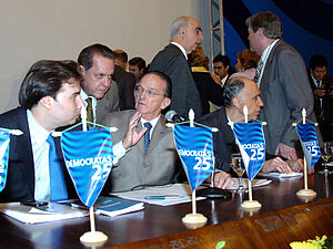 Democrats (Brazil) - Leaders at the March 27, 2007 convention, during which PFL was refounded as DEM.
