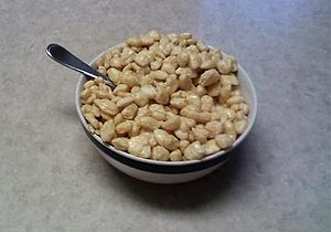 Corn Pops - A bowl of Corn Pops with milk