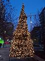 Corvin Promenade. Christmas tree. - Budapest.JPG