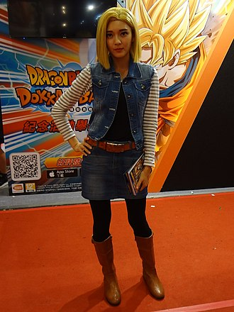 Android 18 - The official cosplayer of Android 18 of Bandai Namco Entertainment Taiwan