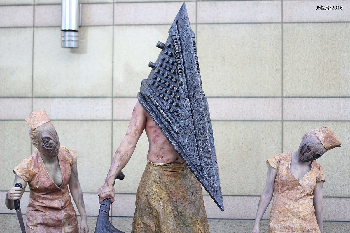 File Cosplayers Of Pyramid Head And Bubblehead Nurses Silent Hill