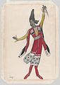Costume Design for the Ballet 'Thamar', premiered at the Théâtre du Châtelet in Paris, 1912 MET DP860292.jpg