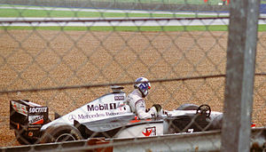 1998 British Grand Prix - David Coulthard retires from the race