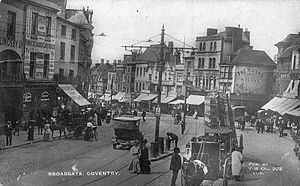 Coventry Blitz - Broadgate, Coventry in 1917