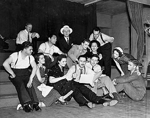Marc Blitzstein - Marc Blitzstein and the cast of The Cradle Will Rock (1937)