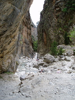 Narrowest part of Samaria Gorge, Crete