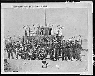 USS Lehigh (1863) - Image: Crew of Monitor on James River, Virginia NARA 524442