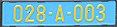Croatia diplomatic corps license plate 028-A-003.jpg
