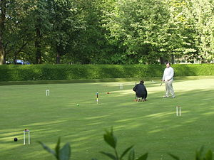 Lawn - A croquet lawn at a club in Edinburgh, Scotland