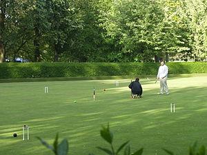 Campo de croquet no Reino Unido