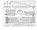 Cross Section; Half Longitudinal Section Showing Middle Wall Reinforced with Arch; Part Long Section Showing Inside of External Side Wall; East Entrance; Part Side HABS NY,48-BLEN,1- (sheet 2 of 3).png