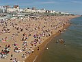 Crowded Brighton beach east of Palace Pier - geograph.org.uk - 1338809.jpg