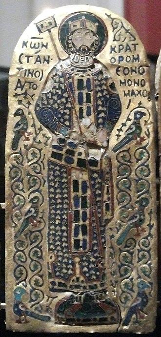 Monomachus Crown - The central panel, depicting Constantine IX Monomachus