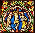 Crucifixion, vitrail de l'ancienne église des Dominicains de Strasbourg.jpg