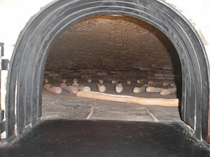 Cuban bread - Simulated Cuban bread in traditional brick oven, Ybor City State Museum, Tampa
