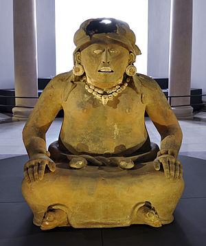 Ghosts in Mexican culture - A terracotta statue of Cihuateotl, the Aztec goddess of women who died during childbirth.