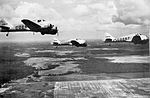 Curtiss AT-9 Jeeps Three Ship Formation - Columbus AAF MS.jpg