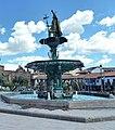 Cusco, Pachacutec statue in Plaza de Armas , l'Inca.jpg