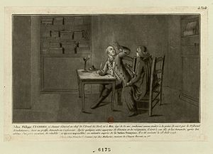 Adam Philippe, Comte de Custine - Prior to his execution, Custine met with the Abbe Lotheringen, for his confession and his prayers.  He also wrote a letter to his son.