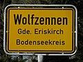 D-BW-Eriskirch-Wolfzennen - Ortsschild 001.JPG