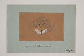 """Design drawing for a for a belt ornament """"The Day and the Night"""""""