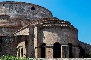 Arch of Galerius and Rotunda monument in Thessaloniki, Greece