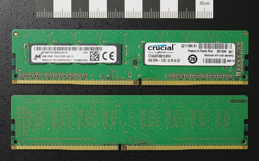 File:DDR4 DIMM 4GB -2133 IMGP5813 smial wp jpg - Wikimedia Commons