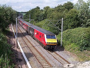 Driving Van Trailer - A Virgin Trains Mark 3 DVT pictured north of Weedon in 2004