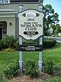 Dade City Woman's Club sign01.jpg