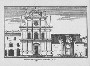 San Maurizio al Monastero Maggiore - Drawing of the church c. 1745