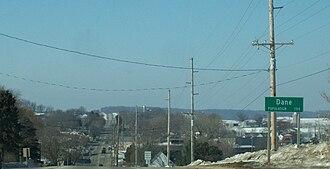 Dane, Wisconsin - Image: Dane Wisconsin Sign WIS113