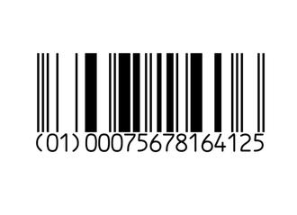 GS1 DataBar - GS1 DataBar barcode symbol encoding a GTIN-12 number