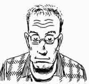 David Collier (cartoonist) - David Collier, a self portrait