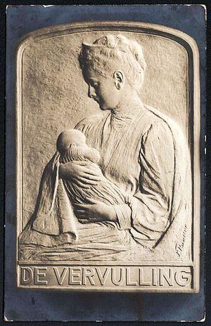 Pier Pander - Image: De Vervulling. Naar een relief der Koninklijke Zilverfabriek C. J. Begeer, Utrecht. (1909)