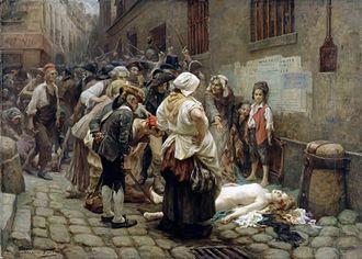 Marie Thérèse Louise of Savoy, Princesse de Lamballe - Death of the Princess de Lamballe, by Leon Maxime Faivre,  1908