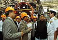 Defence Minister Arun Jaitley, being explained the production facilities at Mazagaon Dockyard Limited.jpg