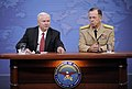 Defense.gov News Photo 100708-F-6655M-004 - Secretary of Defense Robert M. Gates and Chairman of the Joint Chiefs of Staff Adm. Mike Mullen hold a press conference in the Pentagon in.jpg
