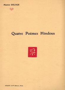 Quatre Poèmes Hindous Wikipedia