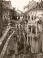 Demolice mostu v Palackého třídě Litovel 1945.png