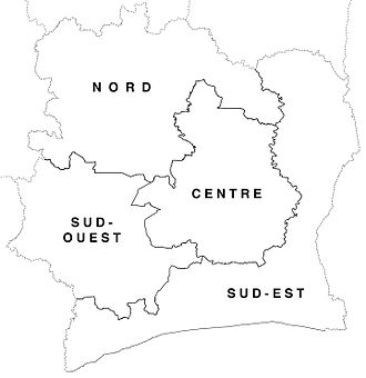 Departments of Ivory Coast in 1961-63. Departments of Cote d'Ivoire locator map labelled (1961-63).jpg