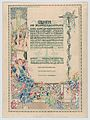 Design for a certificate, awarded by the city of Vienna for the most beautiful floral balcony decorations (balcony below text) MET DP864087.jpg