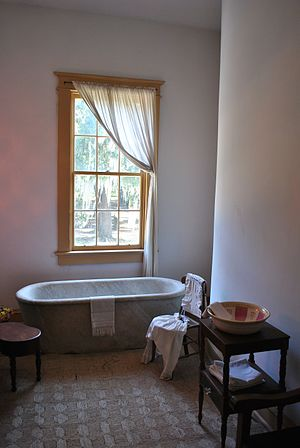 Destrehan Plantation - The 1,400 lb (640 kg) marble bathtub, rumored to be a gift from Napoleon Bonaparte to the family