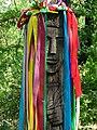 Detail of Wood-Carved Figure at Stone Circle - Khortytsa Island - Zaporozhye - Ukraine (44094193551).jpg