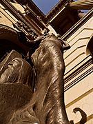 Detalhe com Fachada da Biblioteca Nacional II