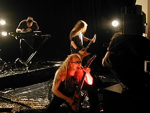"Devin Townsend - Townsend filming the music video for ""Zen"" with Strapping Young Lad (2005)."
